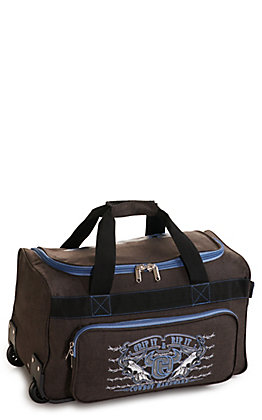 Cowboy Hardware Heather Brown and Blue 18 Inch Gear Bag