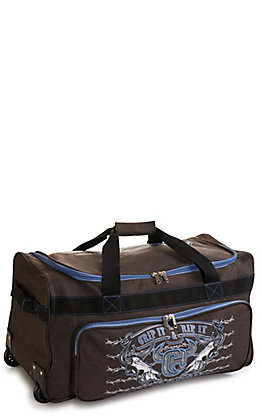Cowboy Hardware Heather Brown and Blue 26 Inch Gear Bag