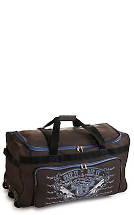 Cowboy Hardware Heather Brown and Blue 30 Inch Gear Bag