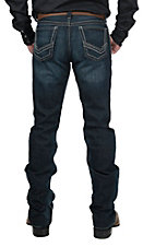 Cinch Ian Men's Dark Wash with V Stitch Embroidery Slim Fit Boot Cut Jeans