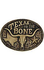 Montana Silversmiths Oval Brass Texas to the Bone Buckle