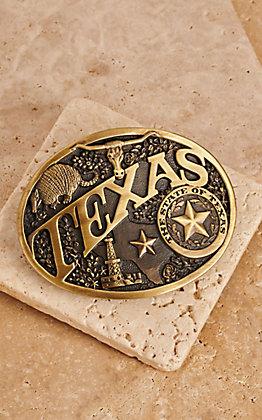 Montana Silversmiths Texas Brass Heritage Buckle