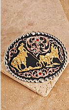 Montana Silversmiths Team Roper Flower Buckle