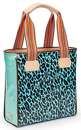 Consuela Gem Turquoise Leopard Print Classic Tote