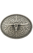 Montana Silversmiths Large Steer Head Buckle