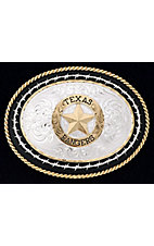 Montana Silversmiths Medium Oval Texas State Seal Buckle