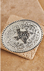 Montana Silversmiths Medium Oval Texas Floral Buckle