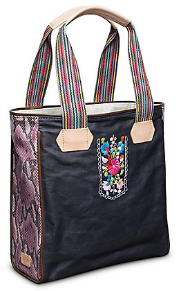 Consuela Aurora Embroidered with Snake Classic Tote