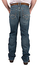 Cinch Men's Ian Medium Wash Slim Fit Open Pocket Boot Cut Jeans