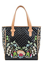 Consuela Beach Floral with Blue Jag Classic Tote