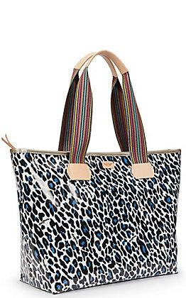 Consuela Lola Leopard Print Zipper Tote Bag