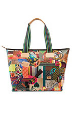Consuela Zipper Patches Tote