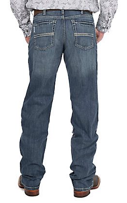 Cinch Men's Medium Wash with Open Pockets Relaxed Fit Jeans