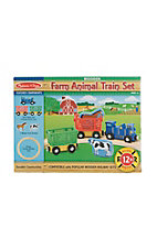 Wooden Farm Animal Train Set
