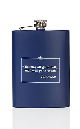 Navy Davy Crockett Stainless Steel Flask