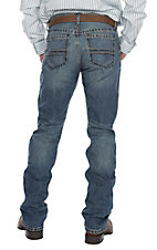 Cinch Ian Medium Wash Copper Double Line Embroidery Slim Boot Cut Jeans