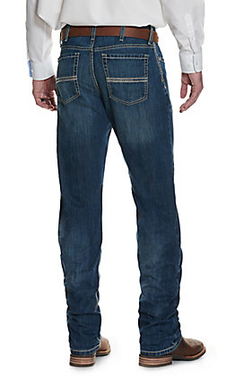 Cinch Men's White Label Dark Stonewash Relaxed Fit Straight Leg Performance Stretch Jean - Cavender's Exclusive