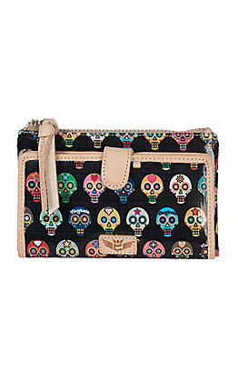 Consuela Women's Tiny Sugar Skull Slim Wallet
