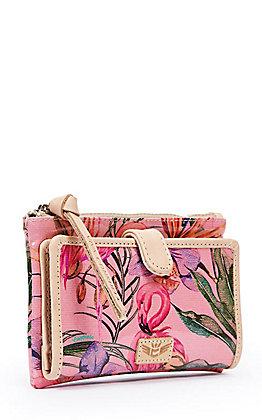 Consuela Brynn Pink Flamingo Print Slim Wallet