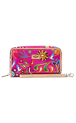 Consuela Legacy Pink Swirly Wristlet Wallet