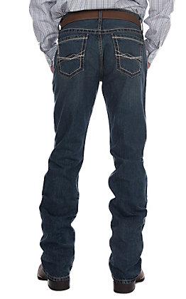 Cinch Ian Medium Wash Embroidery Slim Boot Cut Jeans