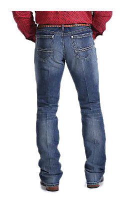 Cinch Men's Ian Medium Wash Mid Rise Slim Fit Bootcut Jeans