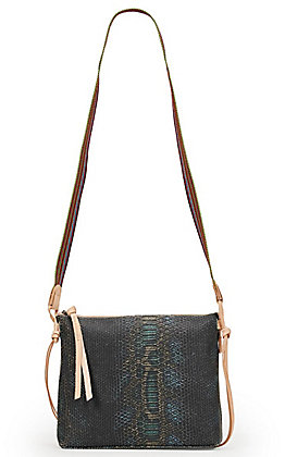 Consuela Rattler Snake Print Downtown Crossbody Purse