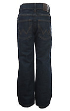 Wrangler Boys Dark Prewash Relax Boot Cut Husky Jeans (Sizes 8-16)
