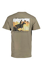 Cowboy Hardware Men's Olive with Psalms 143:10 Screen Print Short Sleeve T-Shirt