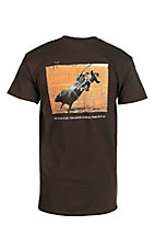 Cowboy Hardware Men's Brown with Psalms 38:17-22 Screen Print Short Sleeve T-Shirt