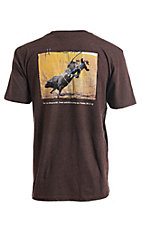 Cowboy Hardware Men's Heather Brown About To Fall S/S T-Shirt