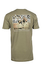 Cowboy Hardware Men's Olive Forsake Me Not Prayer Dust Short Sleeve T-Shirt