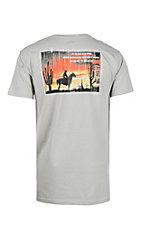 Cowboy Hardware Men's Silver I Am The Light Short Sleeve T-Shirt