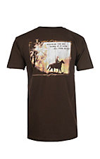 Cowboy Hardware Men's Chocolate Whatever You Do Short Sleeve T-Shirt