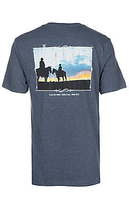 Cowboy Hardware Men's Heather Navy I Am The Light S/S T-Shirt