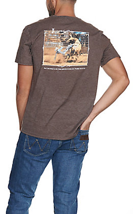 Cowboy Hardware Men's Brown I Am About to Fall Short Sleeve T-Shirt