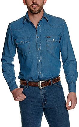 Wrangler Men's Denim Long Sleeve Workshirt - Big & Tall