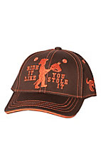 Cowboy Hardware Toddler Brown Ride it Like You Stole It Cap