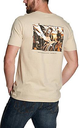 Cowboy Hardware Men's Sand Work Heartily Short Sleeve T-Shirt