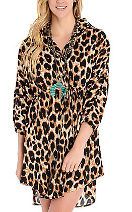 Newbury Kustom Women's Leopard Print Dress