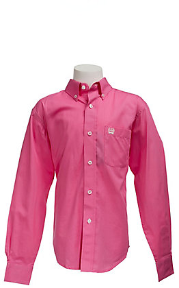 Cinch Boys' Solid Fine Weave Long Sleeve Shirt 7060026