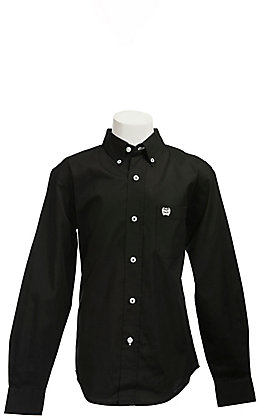 Cinch L/S Boys Solid Fine Weave Shirt 7060027
