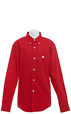 Cinch L/S Boys Solid Fine Weave Shirt 7060029