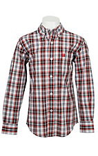 Cinch L/S Infants Red & White Plaid Shirt 7060118I