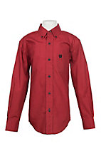 Cinch Boy's Red Geo Print L/S Western Shirt