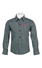 Cinch Boys Black Geo Print Long Sleeve Western Button Down Shirt