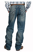Cinch Men's Medium Stonewash Grant Mid Rise Relaxed Fit Boot Cut Jean 70737001
