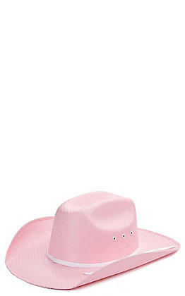 Twister Toddlers Pink Sancho Low Straw Cowboy Hat