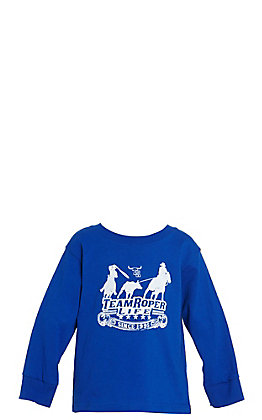 Cowboy Hardware Boys Toddler Royal Blue Team Roper Life Logo Long Sleeve Tee