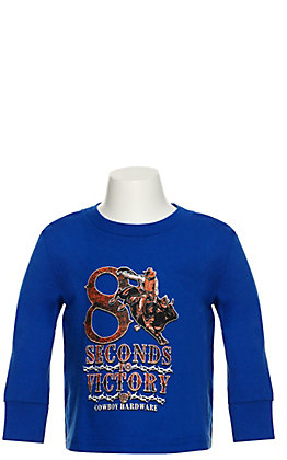 Cowboy Hardware Toddlers Royal Blue 8 Seconds to Victory Long Sleeve T-Shirt